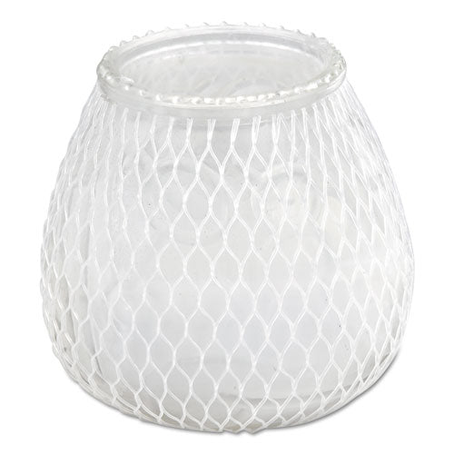 "Euro-venetian Filled Glass Candles, 60 Hour Burn, 3""d X 3.5""h, Frost White, 12-carton"
