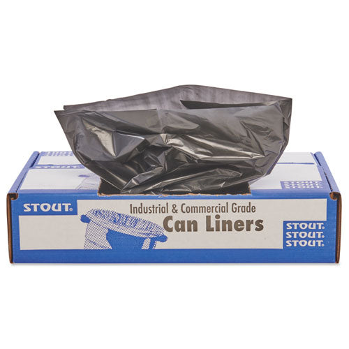 "Total Recycled Content Plastic Trash Bags, 33 Gal, 1.3 Mil, 33"" X 40"", Brown-black, 100-carton"