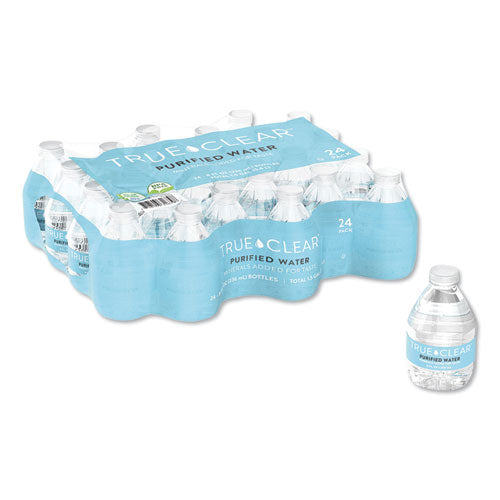 Purified Bottled Water, 8 Oz Bottle, 24 Bottles-carton