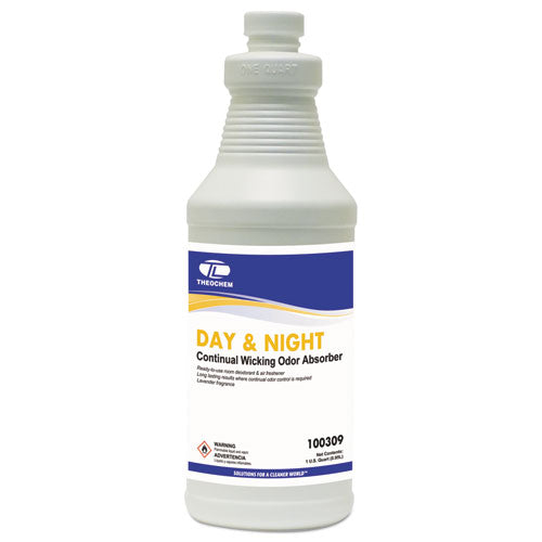Day & Night Wicking Odor Absorber, 32 Oz Bottle, Lavender, 12-carton