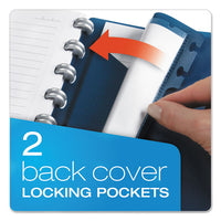 Versa Crossover Notebook, 1 Subject, Wide-legal Rule, Navy Cover, 11 X 8.5, 60 Sheets