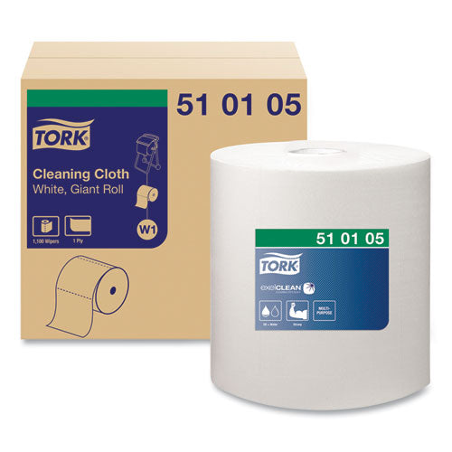 Cleaning Cloth, 12.6 X 13.3, White, 1,100 Wipes-roll