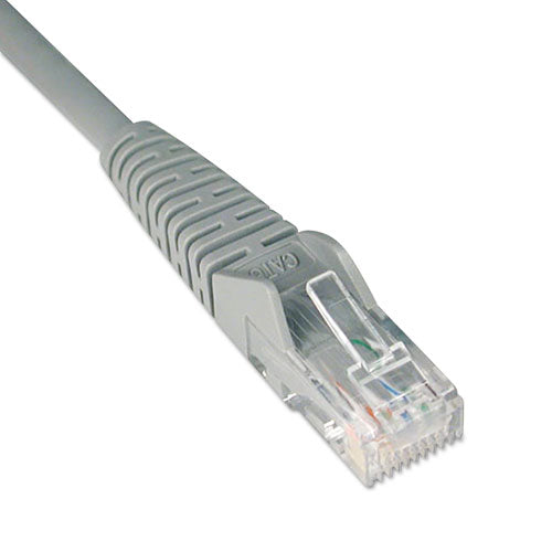 Cat6 Gigabit Snagless Molded Patch Cable, Rj45 (m-m), 1 Ft., Gray