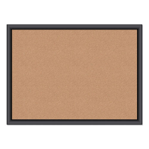 Cork Bulletin Board, 24 X 18, Natural Surface, Black Frame