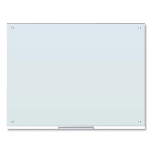 Glass Dry Erase Board, 48 X 36, White Surface