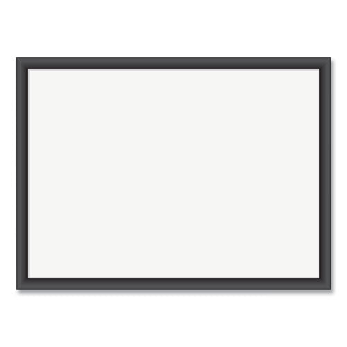 Magnetic Dry Erase Board With Mdf Frame, 24 X 18, White Surface, Black Frame