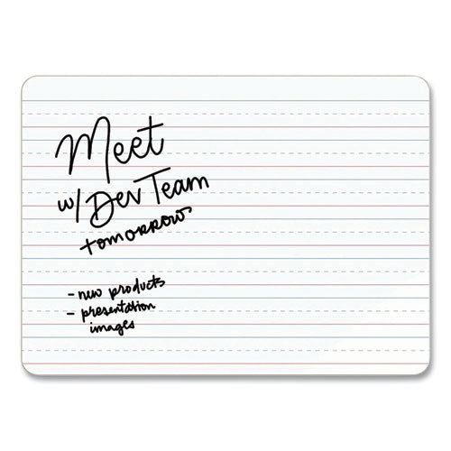 Double-sided Dry Erase Lap Board, 12 X 9, White Surface, 10-pack