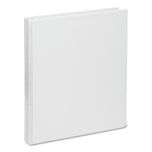 "Deluxe Round Ring View Binder, 3 Rings, 0.5"" Capacity, 11 X 8.5, White"