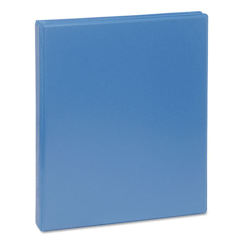 "Deluxe Round Ring View Binder, 3 Rings, 0.5"" Capacity, 11 X 8.5, Light Blue"