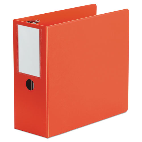 "Deluxe Non-view D-ring Binder With Label Holder, 3 Rings, 5"" Capacity, 11 X 8.5, Red"