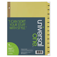 Deluxe Preprinted Plastic Coated Tab Dividers With Black Printing, 12-tab, Jan. To Dec., 11 X 8.5, Buff, 1 Set