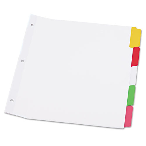 Deluxe Write-on-erasable Tab Index, 5-tab, 11 X 8.5, White, 1 Set