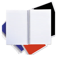 Wirebound Notebook, 3 Subjects, Medium-college Rule, Assorted Color Covers, 9.5 X 6, 120 Sheets, 4-pack
