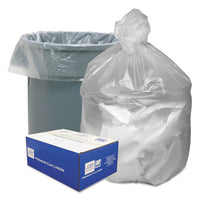 "Waste Can Liners, 60 Gal, 12 Microns, 38"" X 58"", Natural, 200-carton"