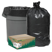 "Linear Low Density Recycled Can Liners, 16 Gal, 0.85 Mil, 24"" X 33"", Black, 500-carton"