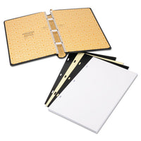 Looseleaf Minute Book, Black Leather-like Cover, 250 Unruled Pages, 8 1-2 X 14