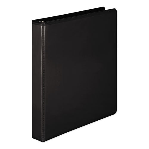 "Heavy-duty Round Ring View Binder With Extra-durable Hinge, 3 Rings, 1"" Capacity, 11 X 8.5, Black"