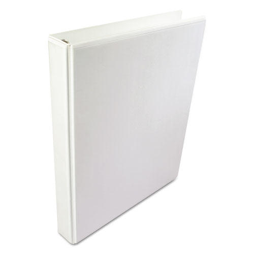 "A4 International Round Ring View Binder, 4 Rings, 2"" Capacity, 11.63 X 8.13, White"