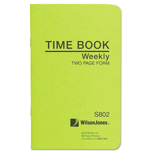 Foreman's Time Book, Week Ending, 4-1-8 X 6-3-4, 36-page Book