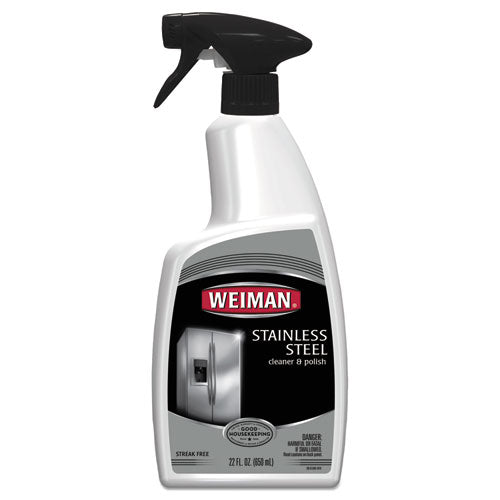 Stainless Steel Cleaner And Polish, Floral Scent, 22 Oz Trigger Spray Bottle