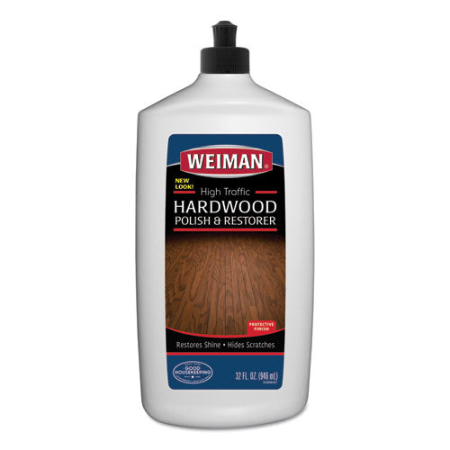 High Traffic Hardwood Polish And Restorer, 32 Oz Squeeze Bottle, 6-carton