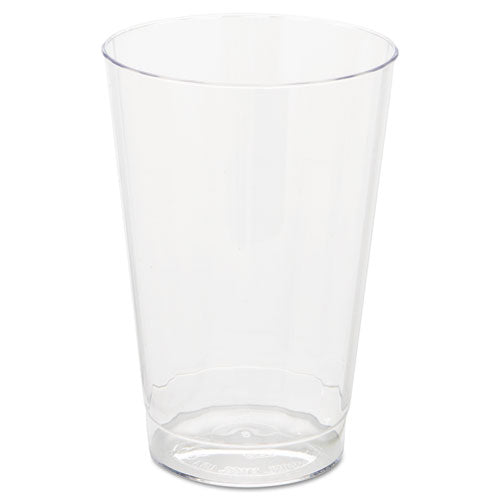 Classic Crystal Plastic Tumblers, 12 Oz, Clear, Fluted, Tall