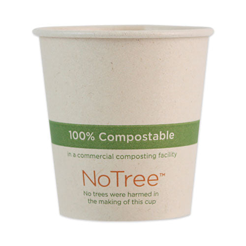 Notree Paper Hot Cups, 4 Oz, Natural, 1,000-carton