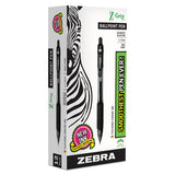 Z-grip Retractable Ballpoint Pen, Medium 1 Mm, Black Ink, Clear Barrel, Dozen