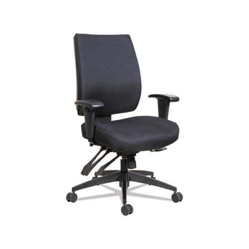 Alera Wrigley Series High Performance Mid-back Multifunction Task Chair, Up To 275 Lbs, Black Seat-back, Black Base