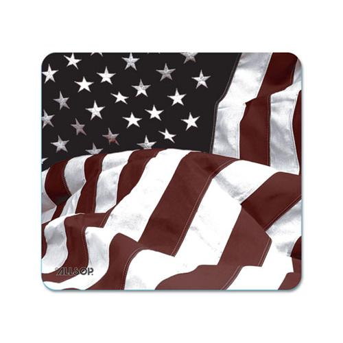Naturesmart Mouse Pad, American Flag Design, 8 1-2 X 8 X 1-10