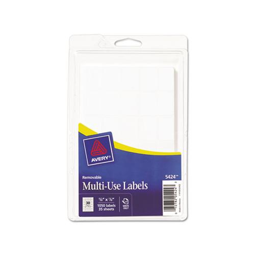 Removable Multi-use Labels, Handwrite Only, 0.63 X 0.88, White, 30-sheet, 35 Sheets-pack, (5424)