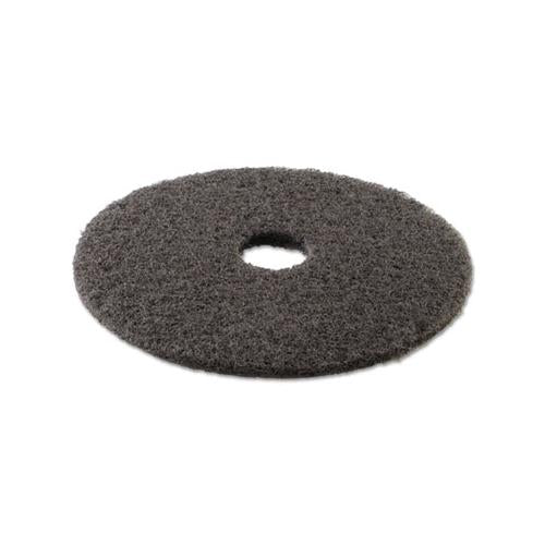 "High Performance Stripping Floor Pads, 17"" Diameter, Grayish Black, 5-carton"