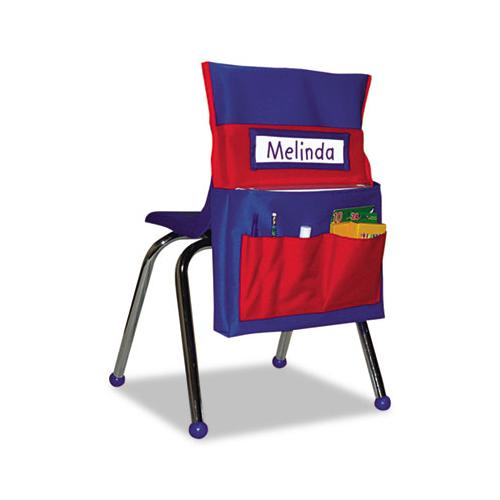 Chairback Buddy Pocket Chart, 15 X 19, Blue-red