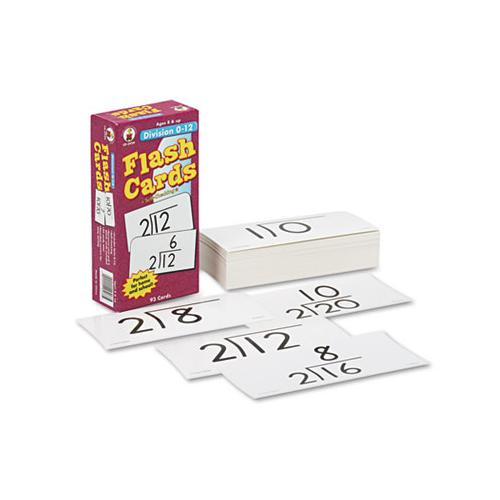 Flash Cards, Division Facts 0-12, 3w X 6h, 93-pack