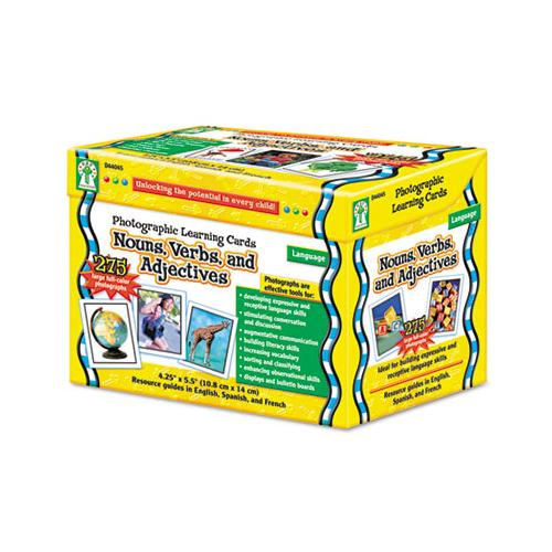 Photographic Learning Cards Boxed Set, Nouns-verbs-adjectives, Grades K-5