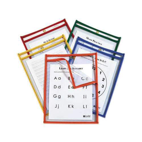 Reusable Dry Erase Pockets, Easy Load, 9 X 12, Assorted Primary Colors, 25-pack