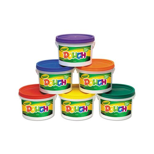 Modeling Dough Bucket, 3 Lbs, Assorted, 6 Buckets-set