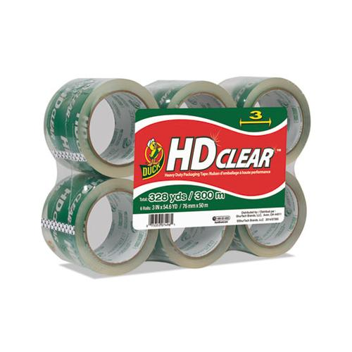 "Heavy-duty Carton Packaging Tape, 3"" Core, 3"" X 54.6 Yds, Clear, 6-pack"