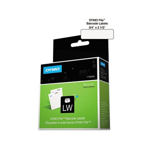 "Labelwriter Bar Code Labels, 0.75"" X 2.5"", White, 450 Labels-roll"