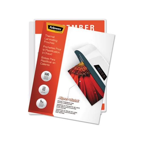 "Laminating Pouches, 5 Mil, 9"" X 11"", Gloss Clear, 100-pack"