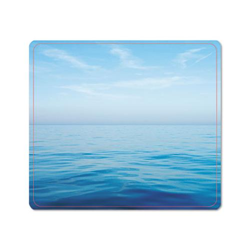 Recycled Mouse Pad, Nonskid Base, 7 1-2 X 9, Blue Ocean