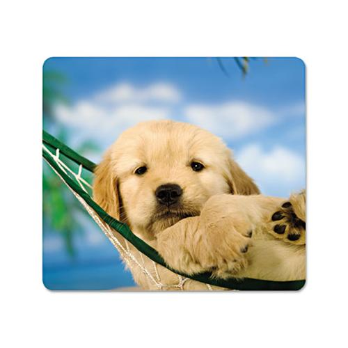 Recycled Mouse Pad, Nonskid Base, 9 X 8 X 1-16, Puppy In Hammock