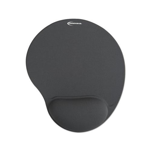 Mouse Pad W-gel Wrist Pad, Nonskid Base, 10-3-8 X 8-7-8, Gray