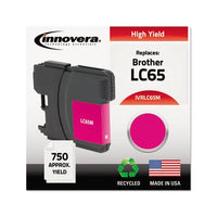 Remanufactured Magenta High-yield Ink, Replacement For Brother Lc65m, 750 Page-yield
