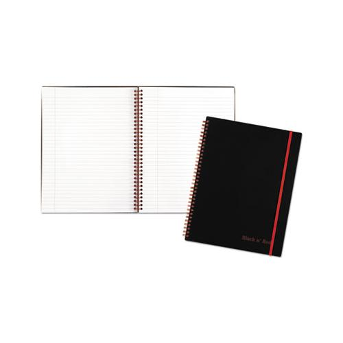 Twin Wire Poly Cover Notebook, Wide-legal Rule, Black Cover, 11 X 8.5, 70 Sheets