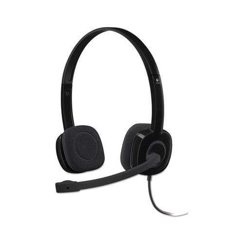 H151 Binaural Over-the-head Stereo Headset, Black