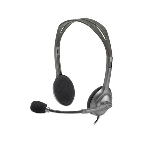 H111 Binaural Over-the-head, Stereo Headset, Black-silver