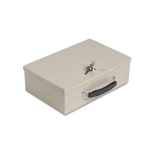 Heavy-duty Steel Fire-retardant Security Cash Box, Key Lock, Sand