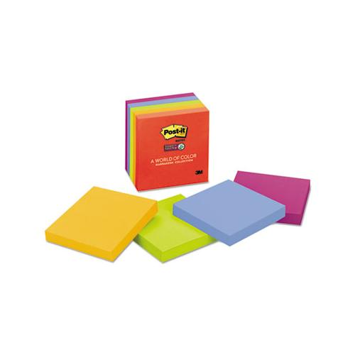 Pads In Marrakesh Colors, 3 X 3, 90-sheet, 5-pack