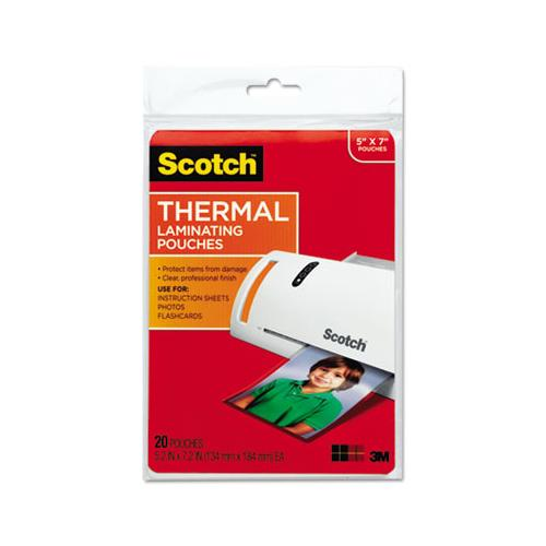 "Laminating Pouches, 5 Mil, 5"" X 7"", Gloss Clear, 20-pack"